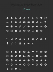 UI icon design materials