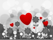 Valentine's day cartoon backgrounds pictures