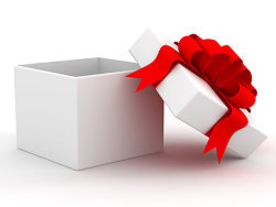 White gift box material