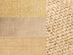 Yellow linen fabric backgrounds HD Photo (4P)