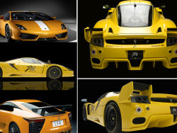 Yellow sports car HD Tutu