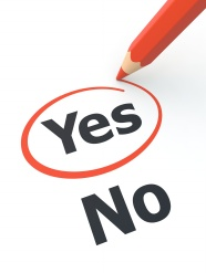 Yes or no creative design pictures