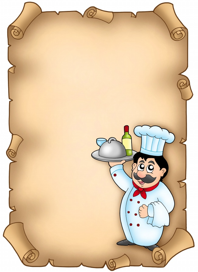 Vintage paper background chef pictures