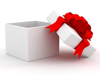 White gift box material