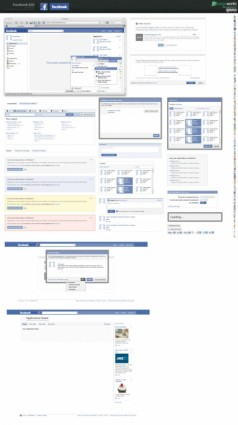 absolute professional facebook gui psd layered nonoriginal