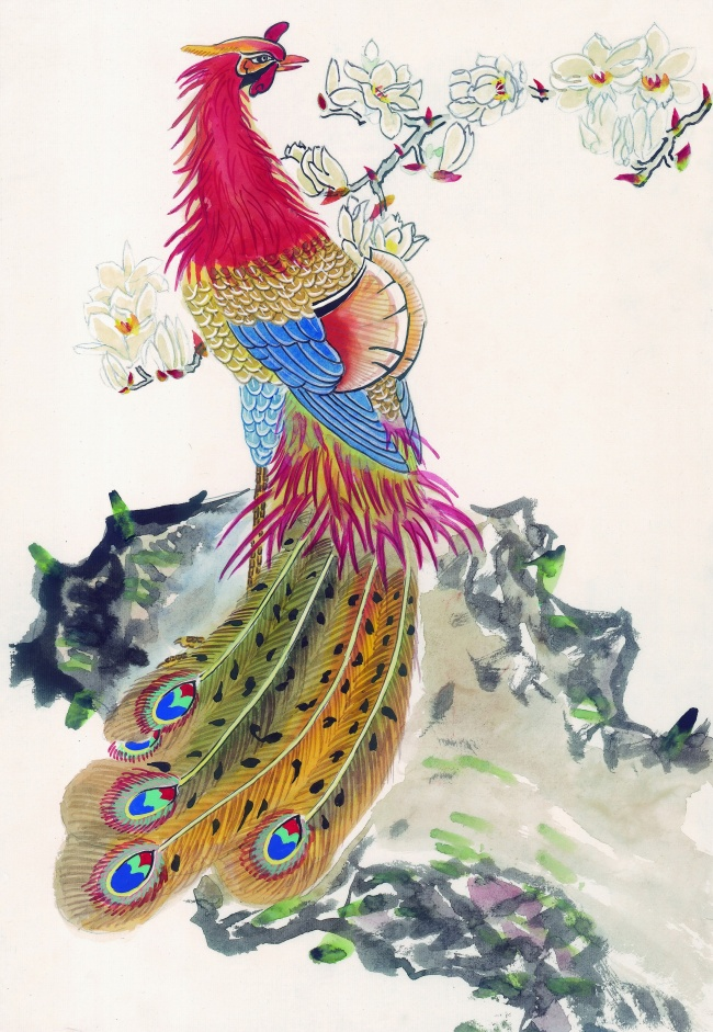 Beautiful Peacock painting pictures