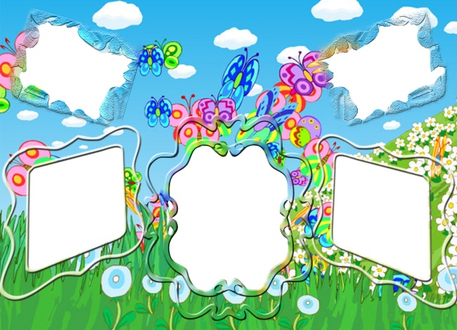Cartoon child photo frame picture download