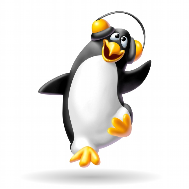 Cartoon penguins listening to music dancing pictures | Free download