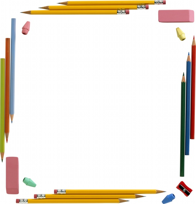 cute pencil border picture jpg for free download