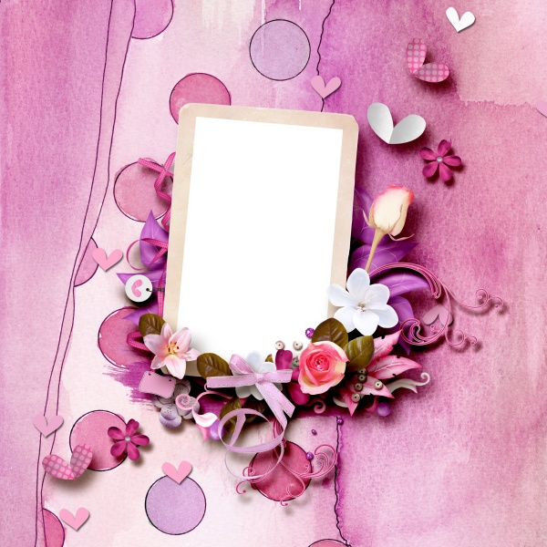 Download HD pink photo frame picture