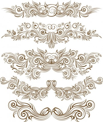draft fine line pattern vector