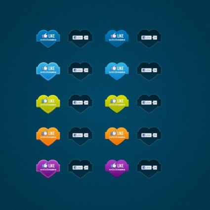 facebook like button icon psd | Free download Facebook Like Button Psd