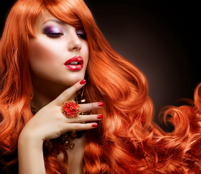 Fashion red hairstyle picture download