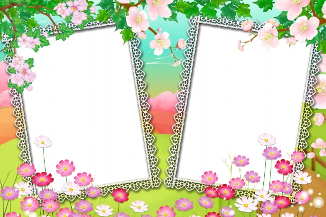 flower border frame picture jpg for free download