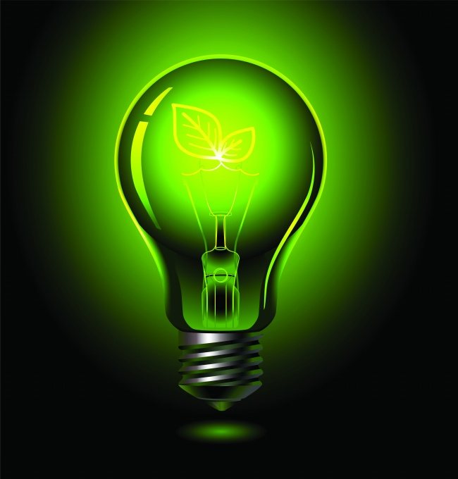 Green light bulb pictures