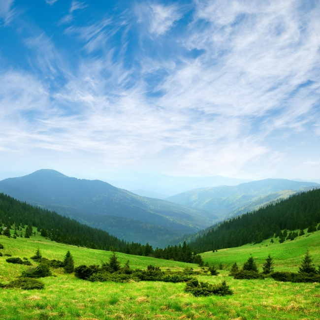Green mountain scenery picture