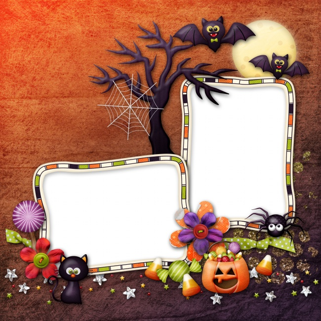 Halloween cute photo frame picture