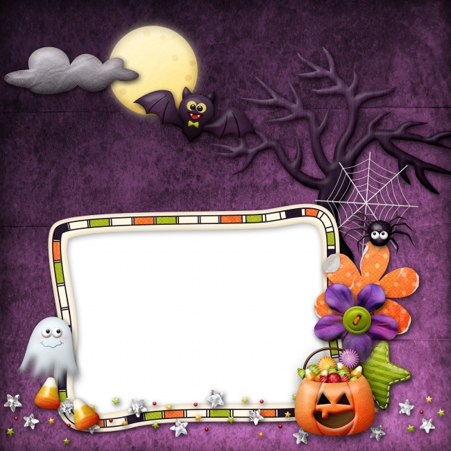 Halloween photo frame picture material