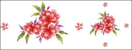 Hand-painted flowers layered material psd-7