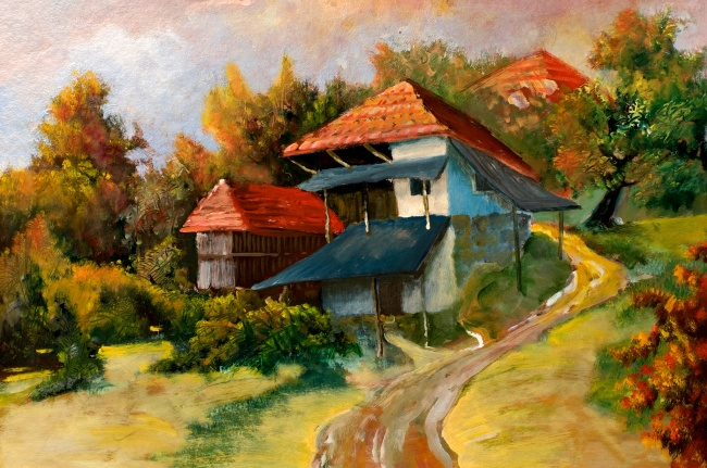 Hand-painted painting landscapes HD pictures