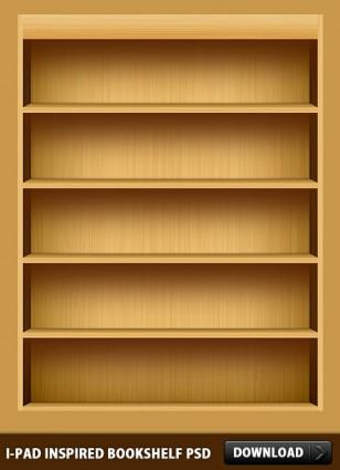 IPad Inspired Bookshelf PSD