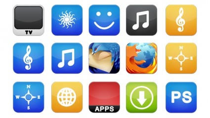 iPhone PNG Icons icons pack