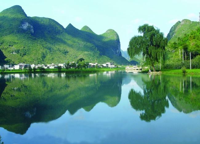 Pingzhai reservoir green landscape pictures