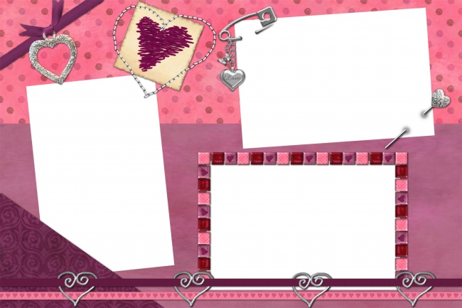 Pink cute photo frame picture material