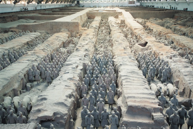 Qin Shihuang terracotta warriors and horses pictures