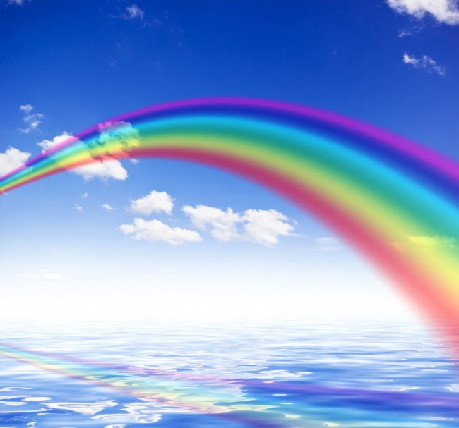 Rainbow in the sky beautiful picture download