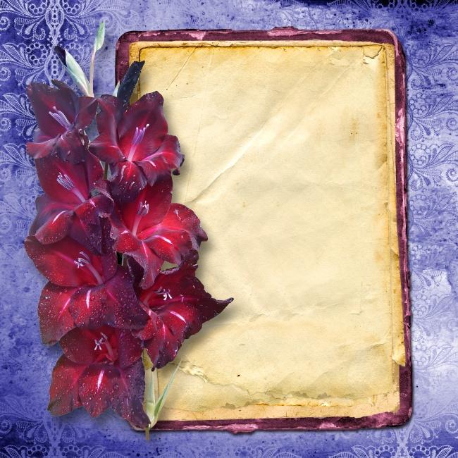 Retro romantic photo frame picture download