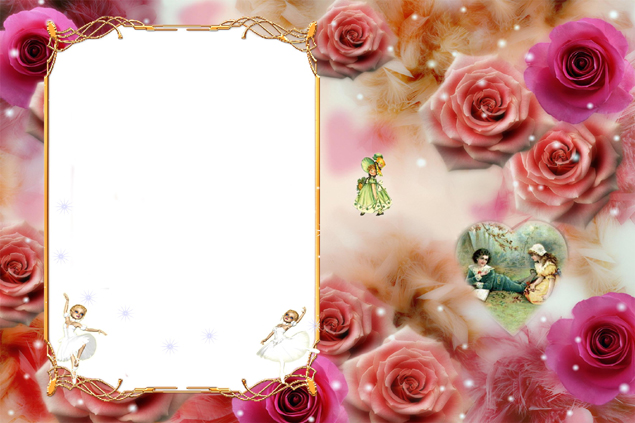 Rose photo frame picture download