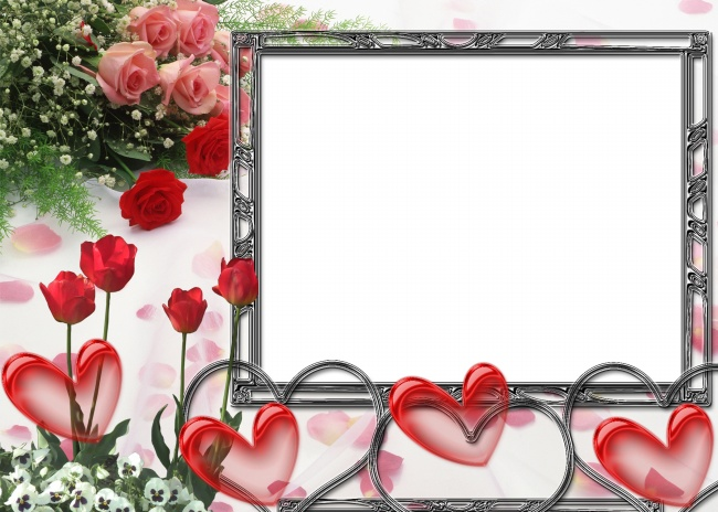 Rose photo frame picture