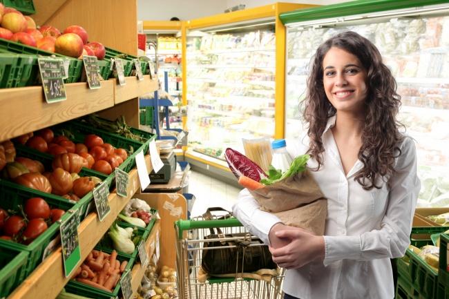 Supermarket shopping beauty photo