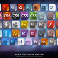 Adobe Flurry Icon Collection icons pack