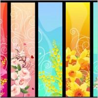beautiful flower banner 02 vector