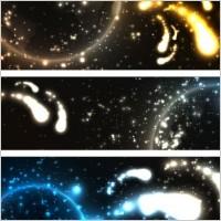 bright stars banner2 vector