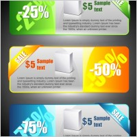 color banners banner02 vector