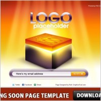 Coming Soon Page Template PSD
