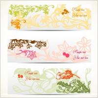 elegant pattern banner02 vector
