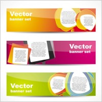 fashion glossy banner 02 vector