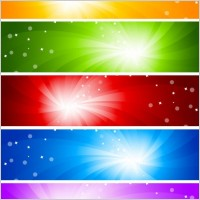 glare banner vector background