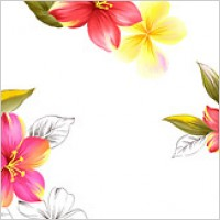Hand-painted flowers layered material psd-8