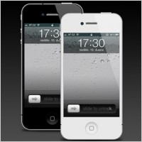 iphone 4 psd template
