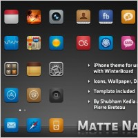 Matte Nano Icons for iPhone icons pack