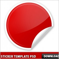 Peel Sticker template PSD