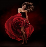 Beautiful dancing roses dress pictures