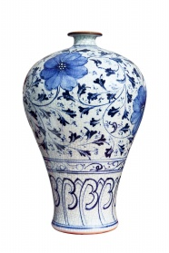 Blue and white porcelain jar pictures