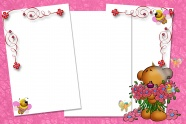 Cartoon bear photo frame picture