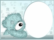 Cartoon bear picture frame material